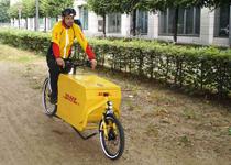 DHL dùng xe đạp để chuyển phát nhanh ở Berlin và Frankfurt